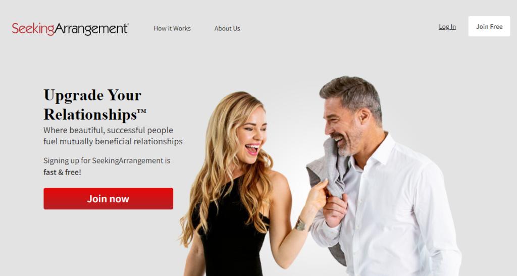 seeking arrangement home page